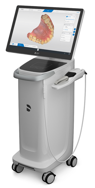 Photo of a CEREC crowns digital scanner and computer, which are available in the Beverly Hills office of Dr. LeSage.