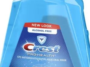Partial photo of alcohol-free mouthwash for porcelain veneers